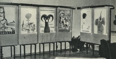Exposição conjunta com Paulo-Guilherme, na sede da Junta de Turismo da Costa do Sol, 1963