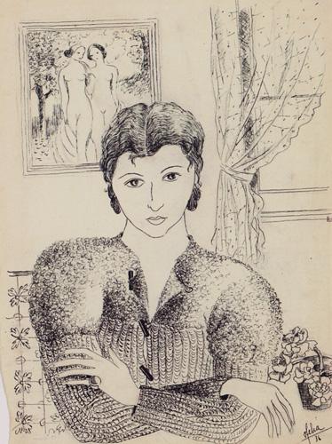 Ofélia_Marques,_Autorretrato,_1936,_tinta-da-china_sobre_papel,_30_x_22,2_cm