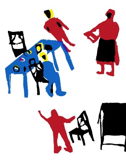O Malmequer Amarelo, ilustrações de alunos do Ciclo Preparatório da Escola Industrial e Comercial de Estremoz, 1963.