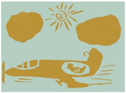 A viagem da galinha, O Livro da Stelinha, Colecção Carrocel, 1964. Ilustrações dos alunos da Escola Técnico Elementar Francisco Arruda.
