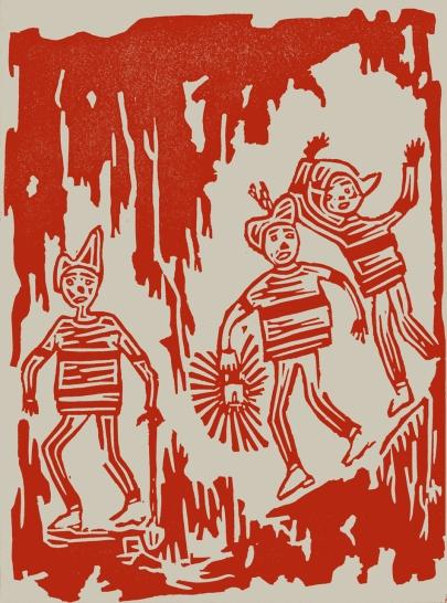O Tesouro das Ilhas Selvagens, Manuela de Azevedo, Colecção Carrocel, 1964. Ilustrações dos alunos da Escola Técnico Elementar Francisco Arruda.