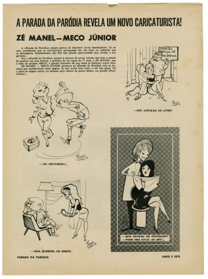 Zé Manel parada da paródia 1961