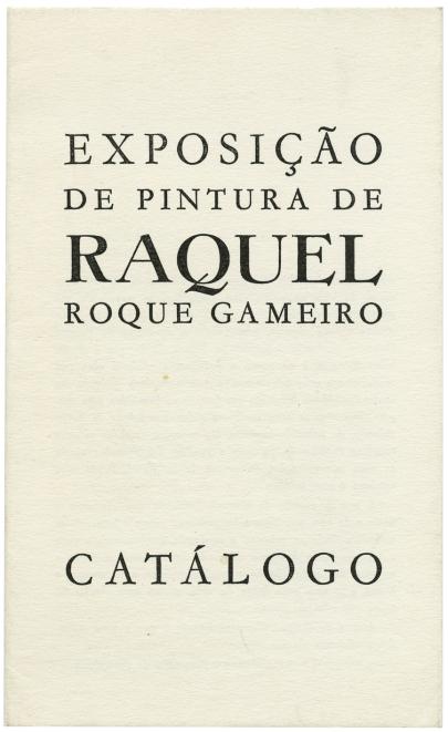 exposição de pintura de raquel roque gameiro, 1969