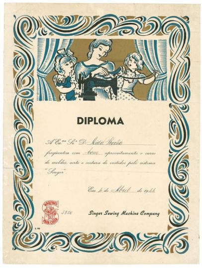 Roberto Nobre Diploma 1944
