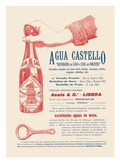 água castello 1909